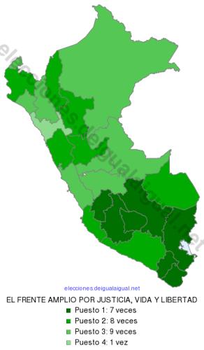 EleccionesPeru2016RankingDepartamental80ELFRENTEAMPLIOPORJUSTICIAVIDAYLIBERTAD