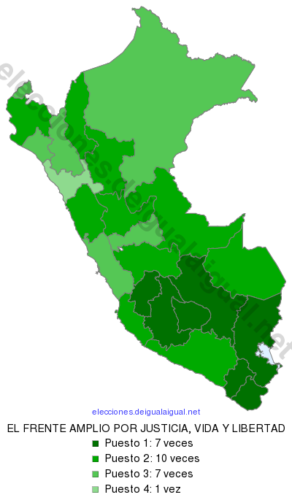 EleccionesPeru2016RankingDepartamental98ELFRENTEAMPLIOPORJUSTICIAVIDAYLIBERTAD