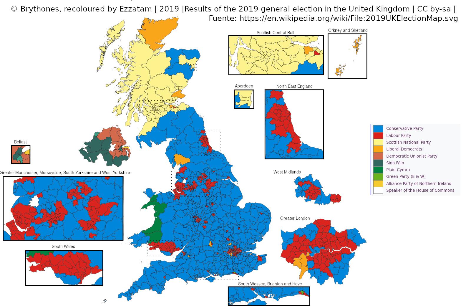 Ganadores en las elecciones de Reino Unido