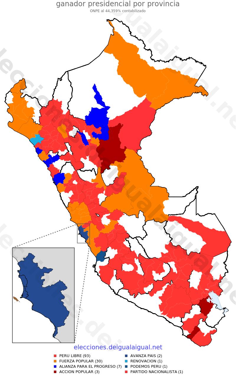 Onpe 44 % (provincias)